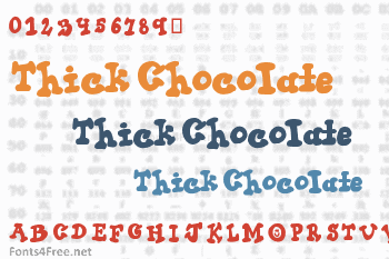 Thick Chocolate Font