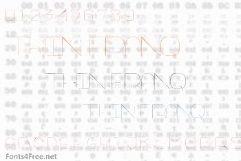 Thin Franq Font