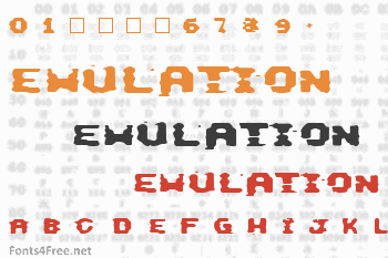 This Emulation Font