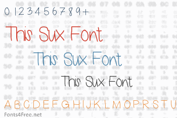 This Sux Font