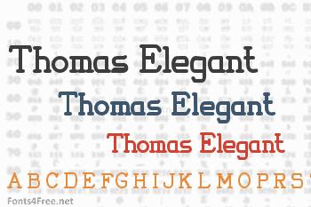 Thomas Elegant Font