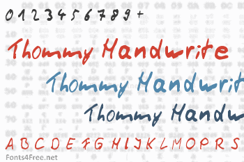 Thommy Handwrite Font