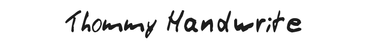 Thommy Handwrite Font Preview