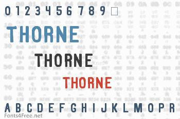 Thorne Font