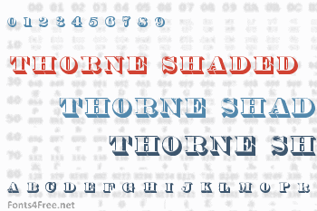 Thorne Shaded Font