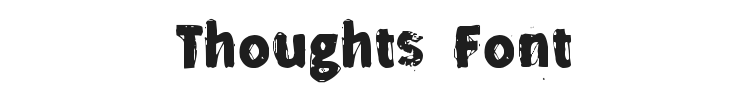 Thoughts Font
