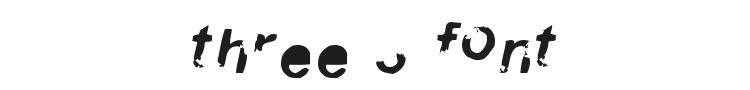 Three 3 Font