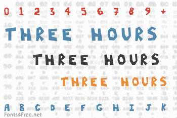 Three Hours Font