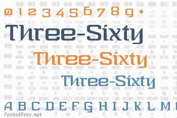 Three-Sixty Font