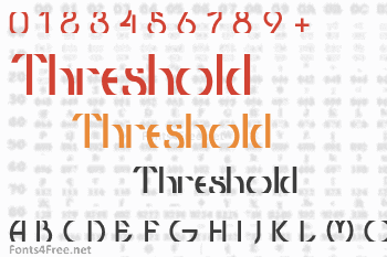 Threshold Font