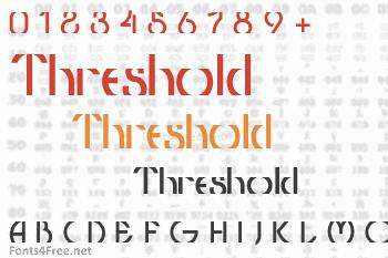Threshold Font