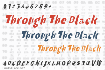 Through The Black Font