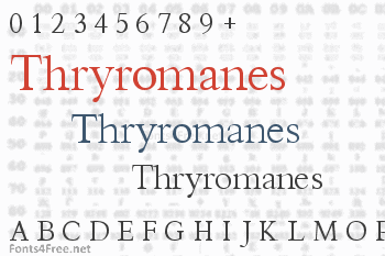 Thryromanes Font