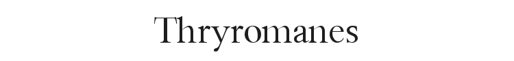 Thryromanes Font Preview