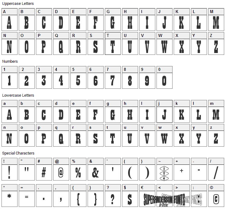 Thunderbirds Are Go  Font Character Map