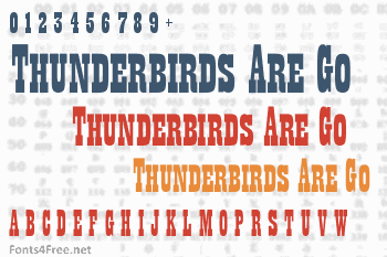 Thunderbirds Are Go  Font