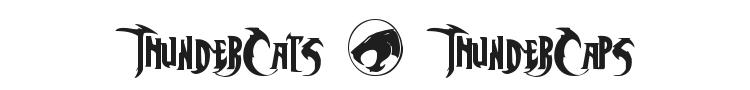 ThunderCats + ThunderCaps Font Preview