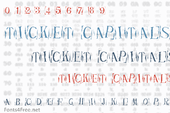 Ticket Capitals Font