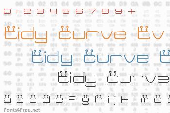 Tidy Curve TV Font