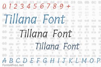 Tillana Font