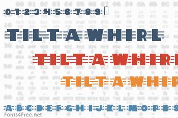 Tilt A Whirl Font
