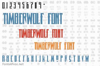 Timberwolf Font