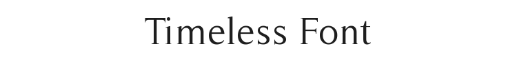 Timeless Font