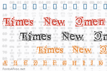Times New Omen Font