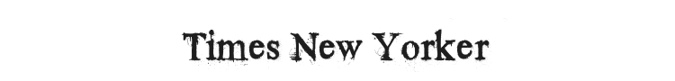 Times New Yorker Font Preview