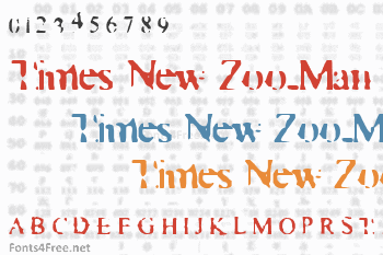 Times New Zoo-Man Font