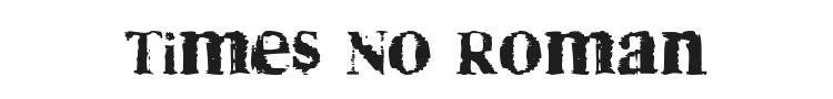 Times No Roman Font Preview