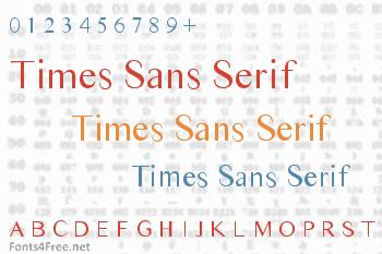 Times Sans Serif Font