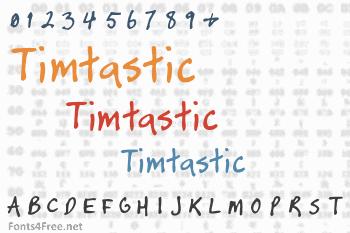 Timtastic  Font