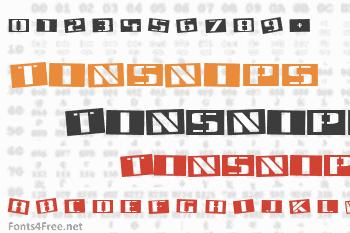 Tinsnips Font