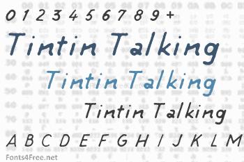 Tintin Talking Font