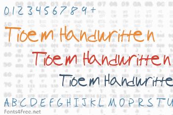 Tioem Handwritten Font