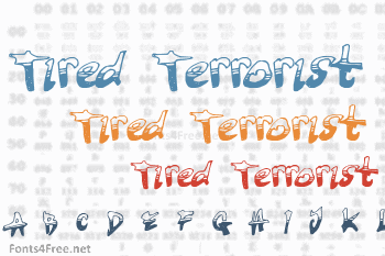 Tired Terrorist Font