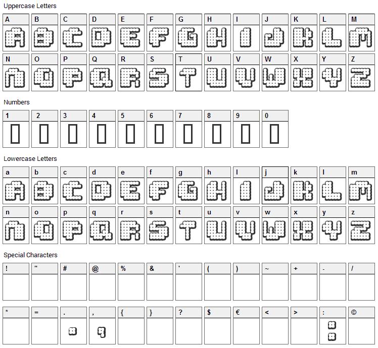 Tivoli Font Character Map