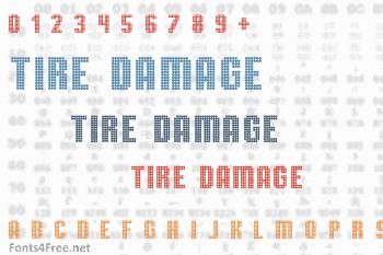 TMBG Severe Tire Damage Font