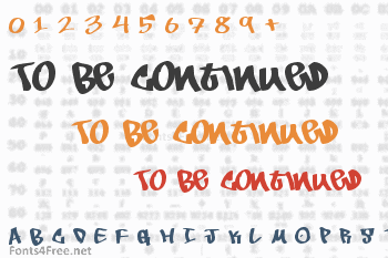 To Be Continued Font
