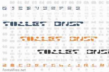 Toilet DNSP Font