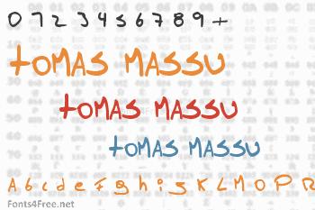 Tomas Massu Font