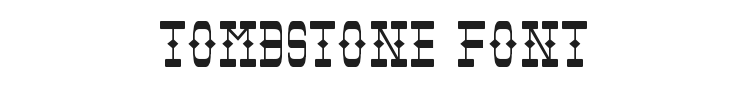 Tombstone Font Preview