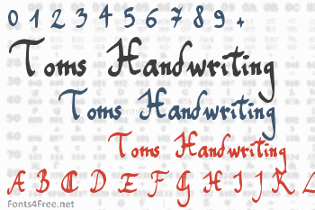 Toms Handwriting Font
