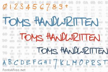 Toms Handwritten Font