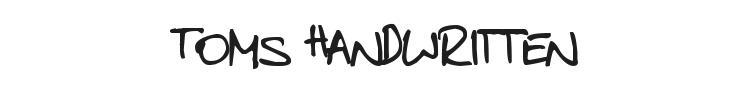 Toms Handwritten Font Preview