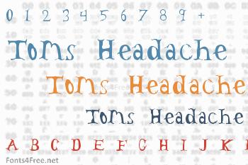 Toms Headache Font