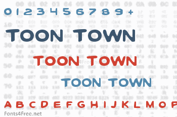 Toon Town Industrial Font