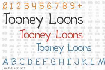 Tooney Loons Font