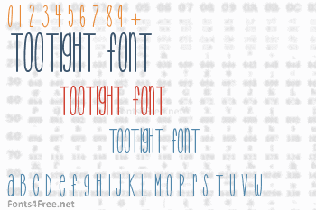 TooTight Font